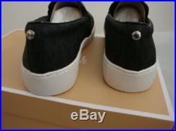 NIB Women's MICHAEL Michael Kors Keaton Slip On Sneakers Signature Black 7.5-10