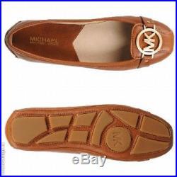 NWB MICHAEL MICHAEL KORS Women's Fulton Moc Luggage Leather