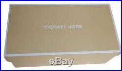 NWB Michael Kors WOMEN'S SIZE 9-M Trina Black Suede & Silver Platform Sandals