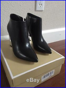 NWT Michael Kors Paloma Metal Heel Booties Size 7