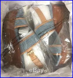 New In Box Michael Kors Gillian Wash Denim Women Double Platform Sandals Size 6