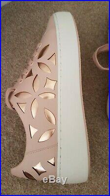 New Ladies Smart Michael Kors Rose Leather Trainers Flat Shoe Size 5 (38)£145
