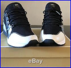 New MICHAEL KORS Womens Shoes SZ 9 LIV TRAINER MESH BLK/GUN With Box 4ST8SCFS4D