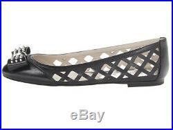New MICHAEL Michael Kors BLACK LEATHER BALLET FLATS SHOES 40
