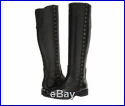 New MICHAEL Michael Kors Dora Black Knee Leather Boot Size 10M