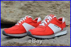 New Michael Kors Allie Trainer Mandarine Satin Running Shoes US Women's Sz 9