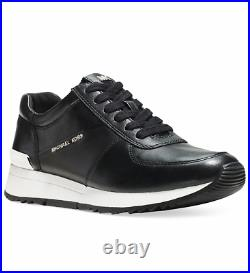 New Michael Kors Allie Trainer Sneakers Women's Shoes Leather Black