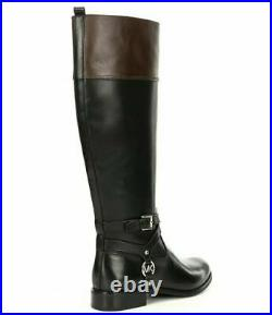 New Michael Kors Black/brown Preston Tall Riding Boots Shoe Sz 5.5 8 40f9prfbhl