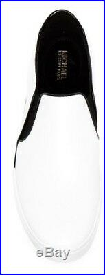 New Michael Kors Brenden Slip On Sneakers Elastic Gores patent leather vacchetta