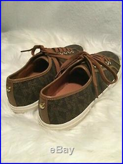 New Michael Kors Brown Signature Boerum Sneakers Tennis Shoes Size 9