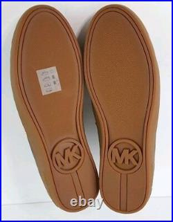 New Michael Kors Frankie $180 Black Leather Gold Studs & Cap Toes Shoes 40 9