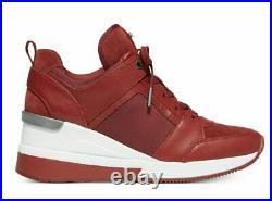 New Michael Kors GEORGIE Brandy Trainer Wedges Sneakers Shoes Flats 9 NIB