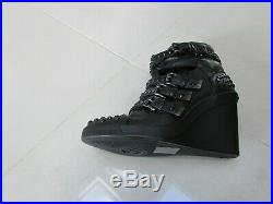 New Michael Kors Leather Wedge Boots With Black Flat Stones Size Uk 5