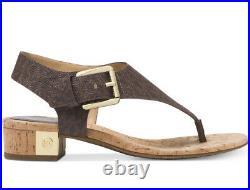 New Michael Kors London Thong Sandals Signature logo brown thong women shoes