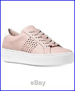 New Michael Kors MK Premium Poppy Lace Up Sneakers Shoes Sz 8.5/ Soft Pink