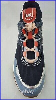 New Michael Kors MK Women's Olympia Trainer Scuba Sneaker Shoes Pale Blue