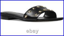 New Michael Kors Mercer Slide Flat Sandals leather stars shoes sandal round toe