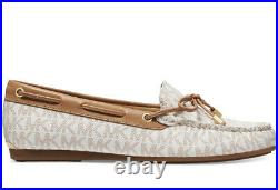 New Michael Kors Sutton Moc Moccasin Flats peanut vanilla bow loafers shoes