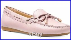 New Michael Kors Sutton Moc Moccasin Flats soft Pink loafers bow leather shoes