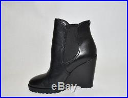 New! Michael Kors'Thea' Wedge Bootie Black Leather Size 7 M