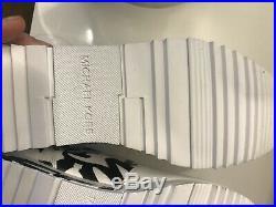 New Michael Kors Women Allie Wrap Graffiti Leather Sneakers Size 6