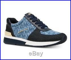 New Michael Kors Women's Allie Trainer Sneakers Denim Size 8 M NIB