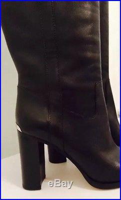 New Michael Kors Women's Regina Knee High Leather Boots Black US Sz 8 M/EU 38