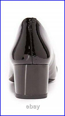 New Michael Kors Womens Black Patent Leather Pauline Flex Mid Pumps Shoes 7.5