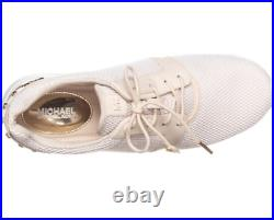 New Michael Kors astor trainer sneakers white ecru stud women's shoes lace up