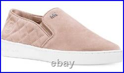 New Michael Kors keaton quilted slip on sneakers ballet flat suede shoes MK 9