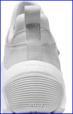 New Michael Kors keeley trainer sneakers silver slip on casual sporty shoes