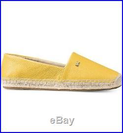 New Size 5 Michael Kors Kendrick Golden Yellow Leather Espadrille Shoe NB