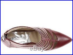 New michael kors mavis sz 8 red leather zip back shootie pump