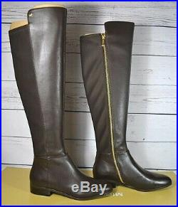 Nib Michael Kors Coffee Leather Tall Bromley Flat Boots Sz 7.5 40f9bofbel