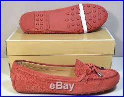 Nib Michael Kors Daisy Moc Cinnamon Signature Suede Moccasin Flats Shoes Sz 6-11
