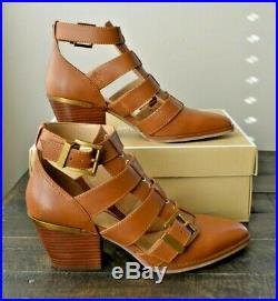 Nib Michael Kors Griffin Bootie Acorn Brown Leather Boots Shoes Sz 7.5
