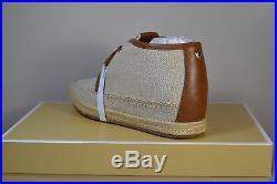 Nib Michael Kors Kendrick Lace Up Wedge Natural Hemp Sneakers Shoes Sz 6-10