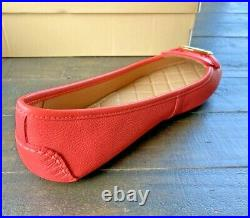 Nib Michael Kors Lillie Moc Pink Grapefruit Leather Moccasin Flats Shoes Mult Sz