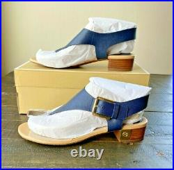 Nib Michael Kors London Admiral Leather Sandals Shoes Mult Sz
