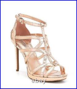 Nib Michael Kors Sandra Soft Pink Met Lthr Platform Hi Heel Sandal Shoes Sz 5-11