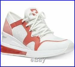 Nib Wmns Michael Kors LIV Trainer Extreme Laserd Sea Coral Sneaker Shoes Mult Sz