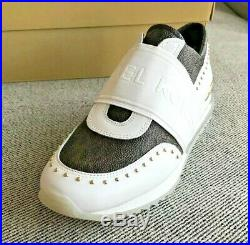 Nib Wmns Michael Kors Mk Trainer Extreme Mini Mk Logo Pvc Sneaker Shoes Mult Sz