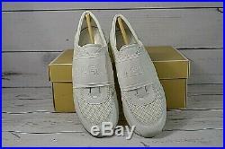Nib Wmns Michael Kors Mk Trainer Extreme Optic White Mesh Sneaker Shoes Mult Sz