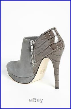 Size 10m Michael Kors York Bootie Slate Women Mk Logo Zipper Platform Boot Shoes