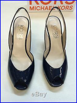 Used Once Michael Kors VIVIAN Navy Shoes UK Size 7 US 9.5 Excellent Condition