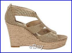 Women MICHAEL Michael Kors Damita Wedge Sandals, Gold Size 10 Metallic Fabric