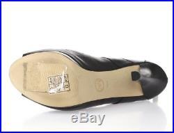 Women's MICHAEL / MICHAEL KORS 227420 black leather peep toe booties sz. 8.5