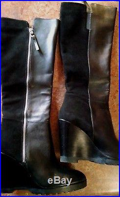 Women's Michael Kors Clara Knee High / Wedge Boots / Black / Size 11