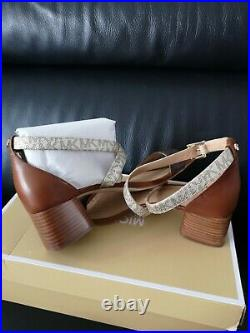 Women's Michael Kors Diane Mid XS MK Logo Lux Shoes Size Uk8 us10 M Brand