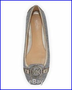 Women's Michael Kors Fulton Glitter Chain Mesh Mocassin Blk/Silver Sz 6-10.5 NIB